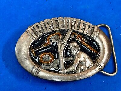 Pipefitter Plumber Pipe Wrench Pipes Occupational Belt Buckle Masterpiece