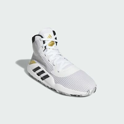 Adidas Pro Bounce 2019 Men's White Basketball Shoes Huge Deal