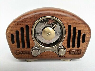 Large Retro Radio AM FM SW Bluetooth USB TF Rechargeable or Battery 4 Styles