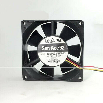 for Sanyo 9cm 9225 24V 0.12A L09P0924H305 Three-Wire Double-Ball Cooling Fan