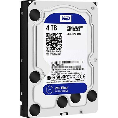 "Western Digital SATA 3.5"" HDD WD Blue 4TB 5400RPM 64MB Internal Hard Disk Drive"