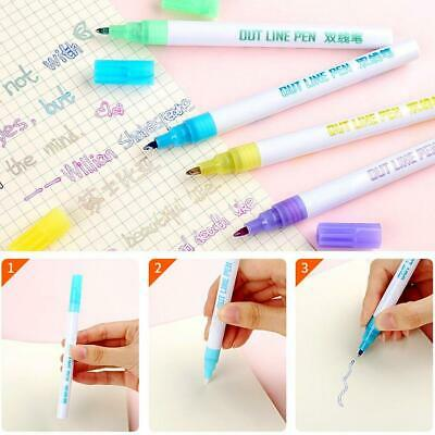 Gift Card Writing & Drawing Double Line Outline Pen Color Pen 8 Color