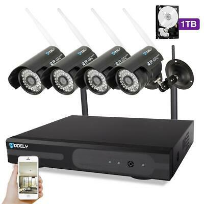 Wireless 8CH 1080P NVR P2P HD 1MP Outdoor Wifi IP IR Camera CCTV Security System