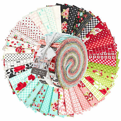 Quilting Fabric Jelly Roll - Little Snippets X 40 Bargain Price