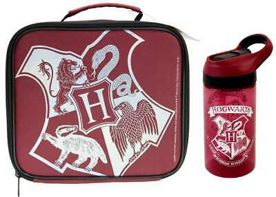 Harry Potter 'Hogwarts' Lunch Bag/Box and 400ml Sip 'n' Snack Bottle | Lunchbox