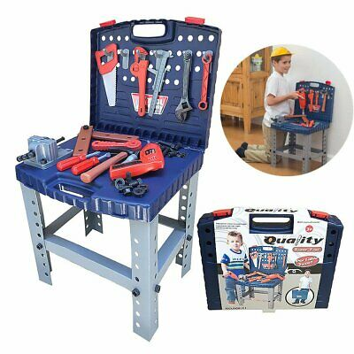 Childrens Kids Construction Work Bench Tool Toy Play Set  DIY Work Station Drill