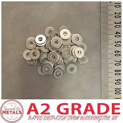M4 (4mm) x 12mm Penny Repair Washers Mudguard Washer A2 Stainless Steel