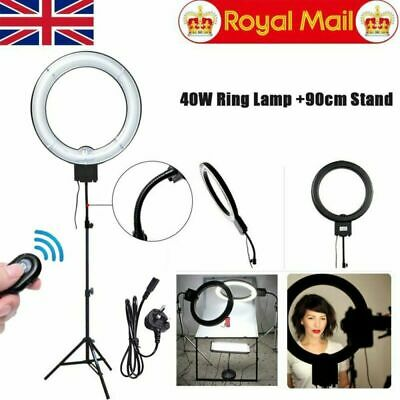 """Fotoconic 12"""" 40W 5400K Ring Light with 90cm Stand  for Photo Video Record"""