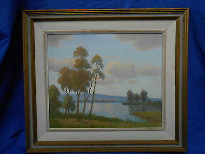 Eric Langker Australian Oil On Board Painting. Original