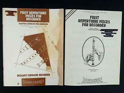 First Repertoire Pieces For Descant / Soprano Recorder By Steve Rosenberg