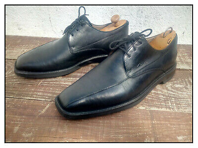 CHAUSSURES CLARKS Derby lacets CUIR noir Taille EU 42 NICKEL