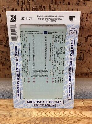 HO scale Microscale Decals 87-890 Merchants Dispatch NYC GM/&O EL RR MDT
