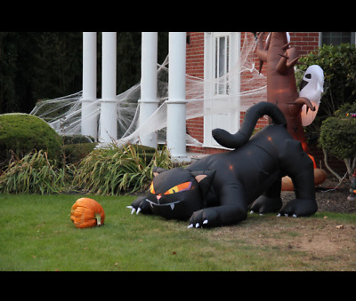 Inflatable Black Halloween Cat Lighted Yard Outdoor Light Decor Decoration Giant
