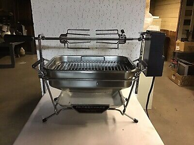 Faberware Open Hearth Rotisserie Indoor Electric Grill Smokeless 455