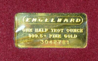 Vintage Engelhard One Half Troy Ounce 999.5+ Fine Pure Gold, Serial No. 3042781