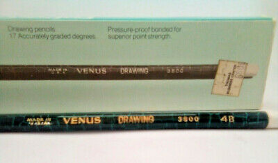 Vintage Faber Castell Venus Drawing Pencils 3800-4b, box of 11