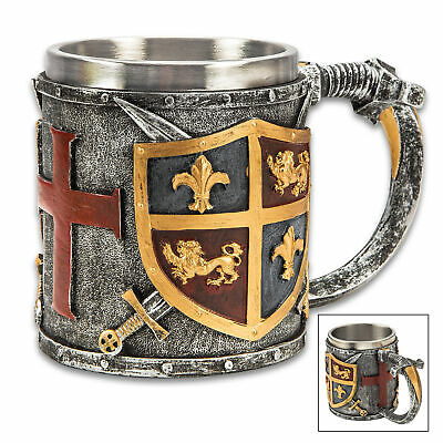Medieval Coat of Arms Coffee Mug Cup Cosplay Knight Celtic Viking Tankard Beer