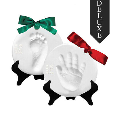 Proud Baby DELUXE Air Dry Clay Hand Print & Footprint Keepsake Ornament Kit