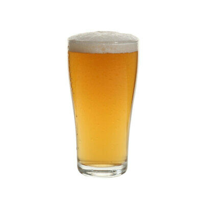 48x Crown Commercial Crowntuff Conical Beer Glass 285mL Middy Half Pint Draught