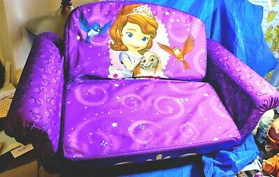 Strange Sofia The First Kids 2 In 1 Flip Open Foam Sofa Bed Little Bralicious Painted Fabric Chair Ideas Braliciousco