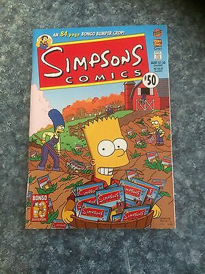 SIMPSONS COMICS #50 Bongo Matt Groening Homer Bart Lisa- 84 PAGES! EXC CONDITION