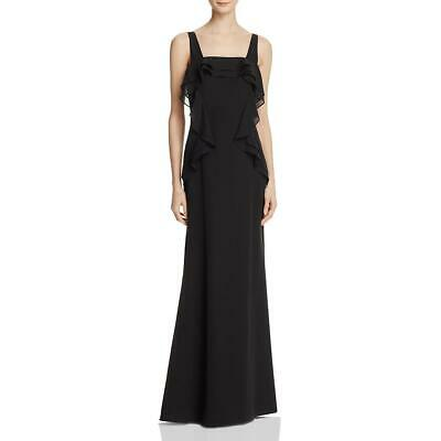 JS Collections Womens Black Ruffled Full-Length Evening Dress Gown 2 BHFO 5259