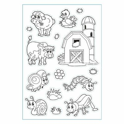 DIY Cartoon Animal Transparent Clear Silicone Seal Scrapbooking Photo Album Card