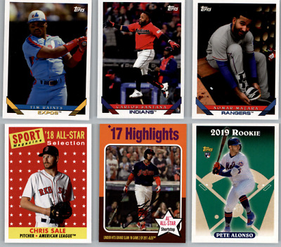 2019 Topps Archives Baseball - Base Set and SP Cards - Choose Card #'s 201-330