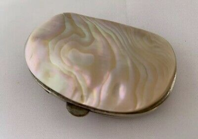 Antique Victorian Mother Of Pearl Shell Purse Hinged w. Clasp - RARE