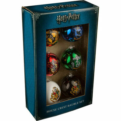 Harry Potter - House Crest Christmas Baubles - Set of 6 NEW xmas tree decoration