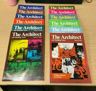 The Architect and Building News: Weekly Magazine: 12 Issues: Jan-June 1969