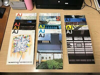 The Architects' Journal: Weekly Magazine: 17 Issues: May-August 1982