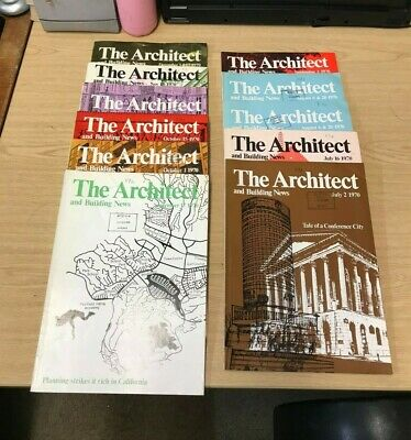 The Architect and Building News: Weekly Magazine: 11 Issues: July-Dec 1970