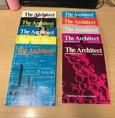 The Architect and Building News: Weekly Magazine: 10 Issues: Jan-June 1970