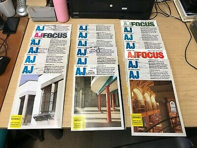 The Architect Journal: Weekly Magazine: 19 Issues: Jan-April 1989