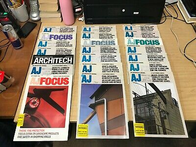 The Architect Journal: Weekly Magazine: 21 Issues: Sept-Dec 1988