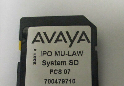 Avaya IP 500 V2 SD Card 700479710 Release 8.0 Essentials Edition License #9438