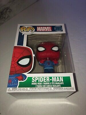 Funko Pop Marvel: Holiday - Spider-Man with Ugly Sweater Collectible Figure