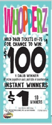 """Pull Tab Ticket """"WHOPPERZ"""" 160ct  $50.00 PROFIT! w/FREE Shipping!"""