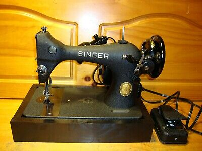 "1952 Singer Sewing Machine Model 128 ""Godzilla"", Serviced"