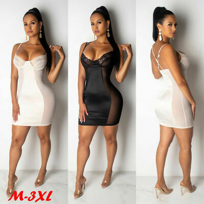 Women Bodycon Sleeveless Evening Party Cocktail Club Short Mini Bandage Dress
