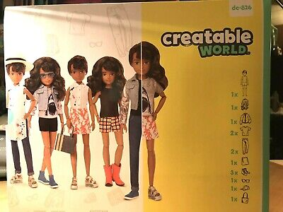 Creatable World Deluxe Character Kit Doll Brown Hair  Dc-826. NOT Released Yet.