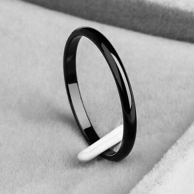 Simple Stainless Steel for Women Ring Thin Stackable Ring  Plain Band Girl 2mm