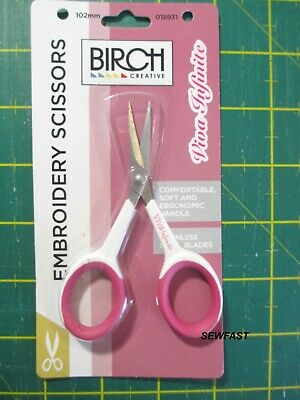 Embroidery Scissors 102mm Blade BIRCH Ergonomic STAINLESS STEEL