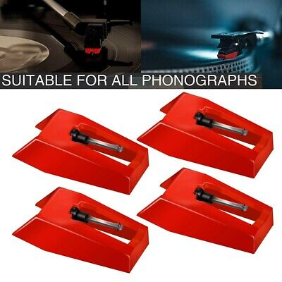 4Pcs Turntable Record Player Phonograph Replacement Stylus Needles Tool Set AU
