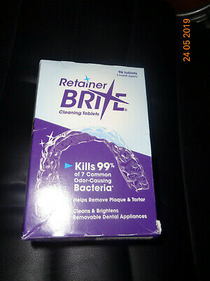 retainer brite cleaner tablets 96 + 52 Tablets  cheapest on Ebay