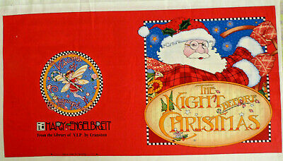 THE NIGHT BEFORE CHRISTMAS Poem Soft Book Quilt Cotton Panel Xmas