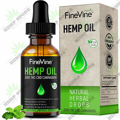 Oil Drops -500mg - for Pain Relief, Stress, Anxiety Sleep Support - Best Natural