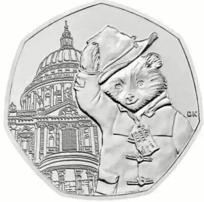 Paddington Bear At Saint Pauls Cathedral Uncirculated Out A Sealed Bag 50p Coin