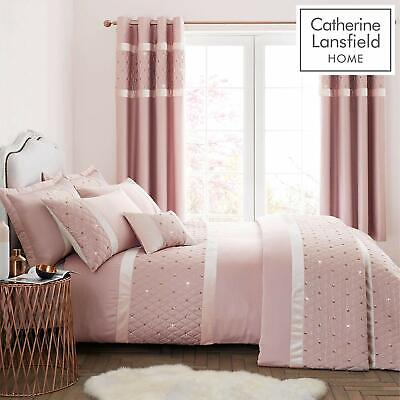 Sequin Cluster Blush Pink Luxury Embellished Bedding by Catherine Lansfield